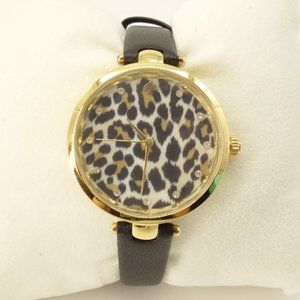 NEW Kate Spade Holland Leopard Print Leather Watch